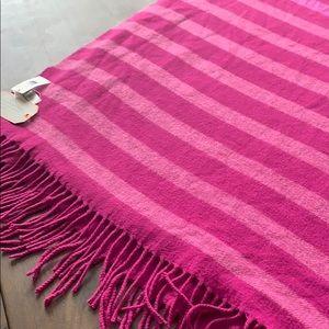 NWT magenta striped blanket Gap Scarf